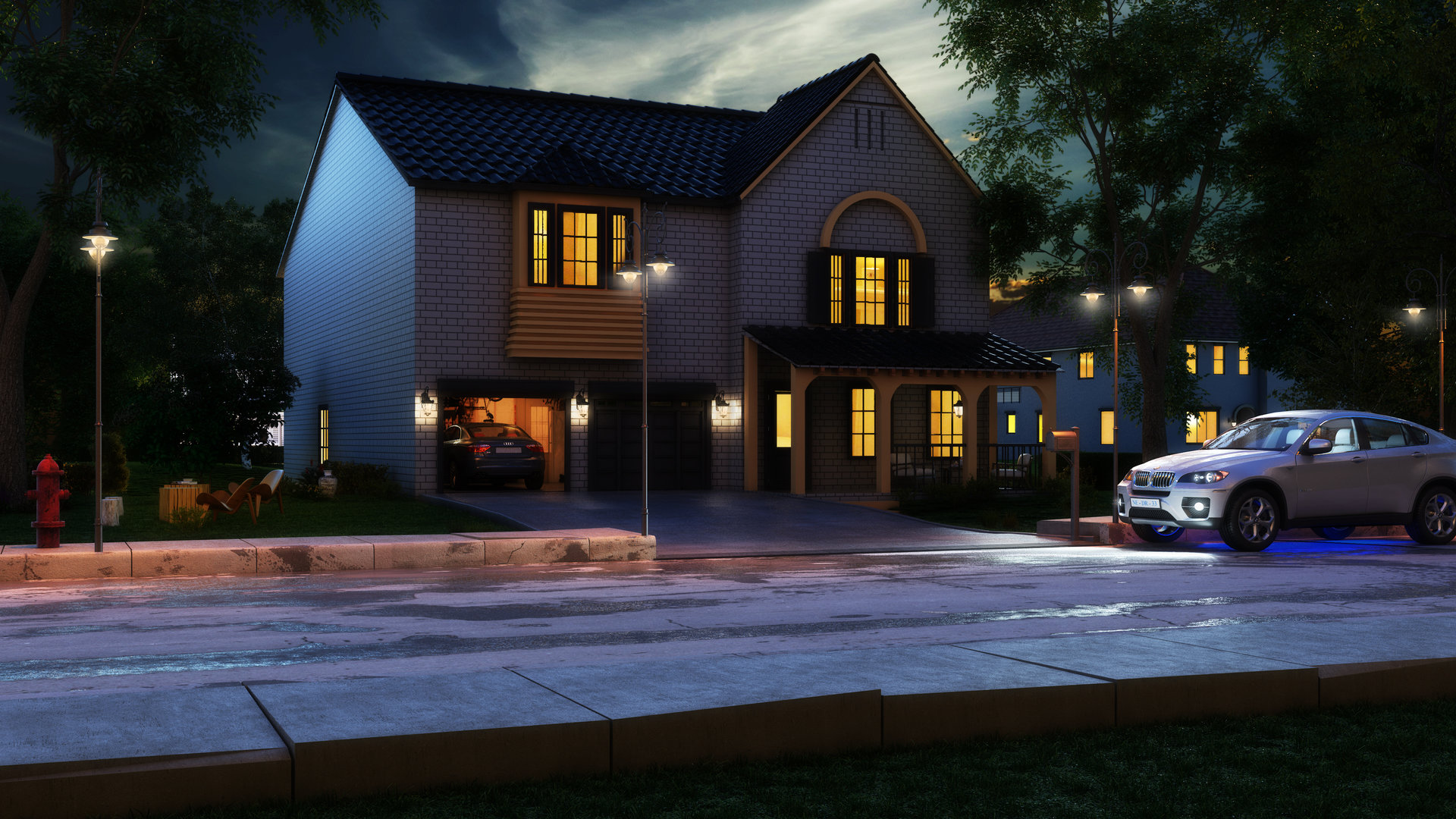 3d architectural visualisation services for exterior home design in melbourne syncronia - Exterior home services ...