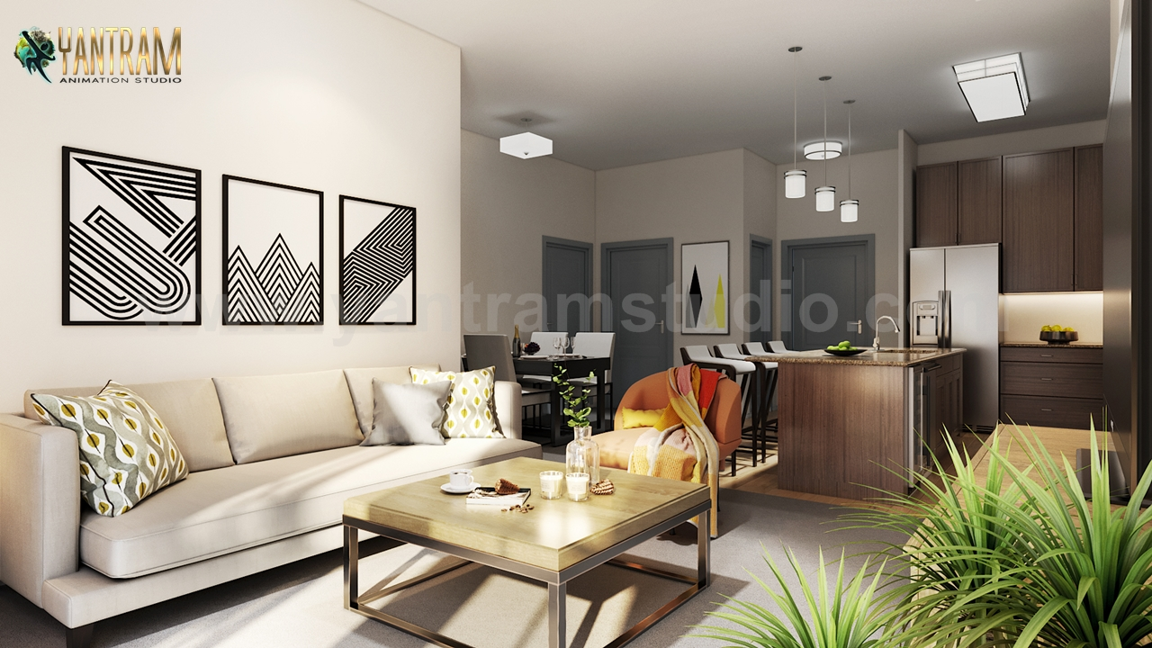 Modern Kitchen Living Room Combo Amp Decorative Bathroom 3d Interior Modeling Ideas By
