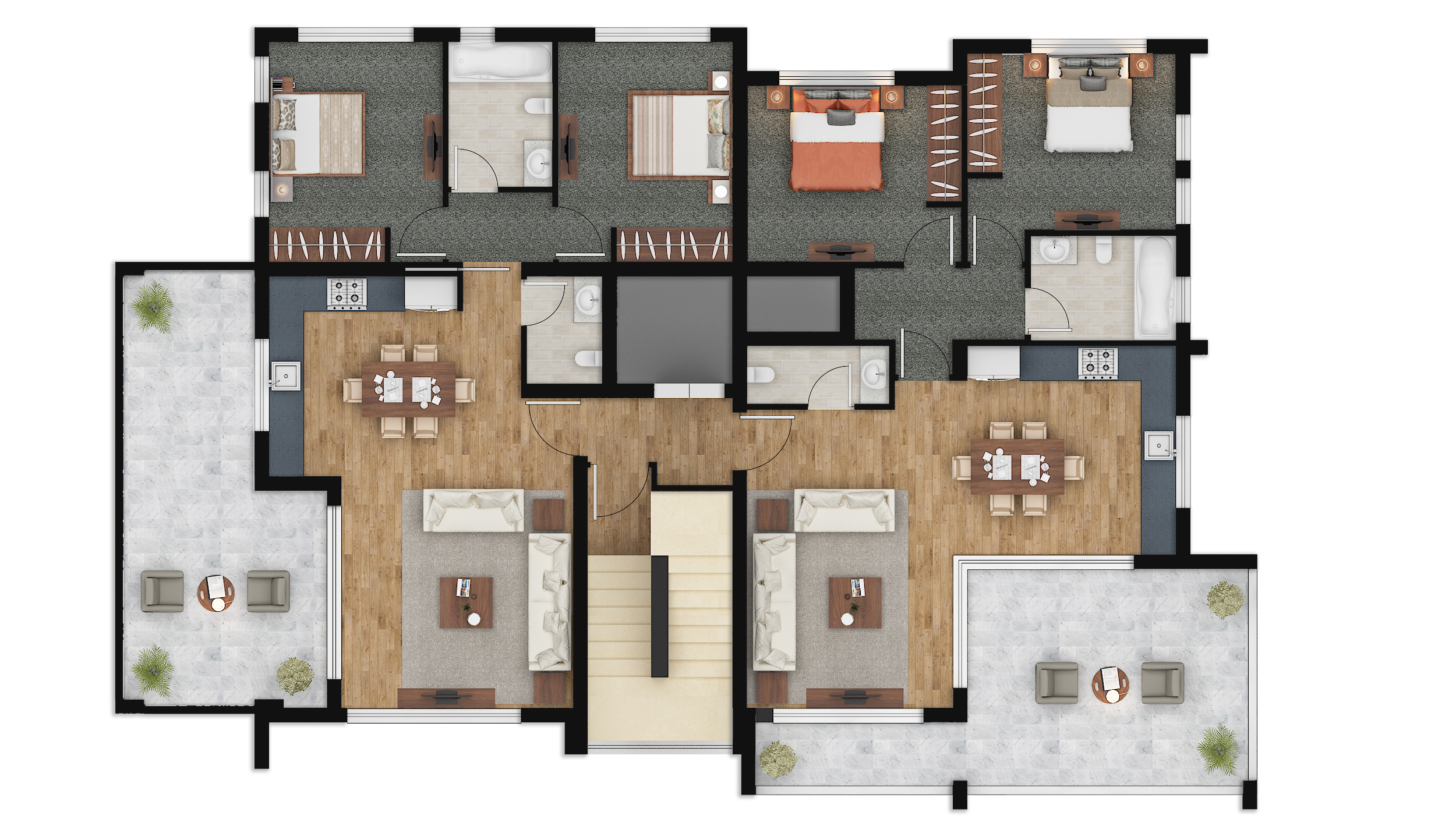 Color Floor Plan Rendering Photoshop Austin Texas For Property Marketing Plan Syncronia