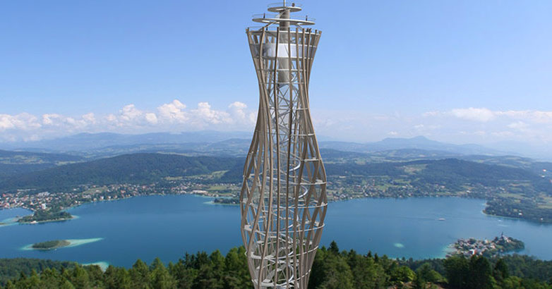 Pyramidenkogel: the world's tallest wooden observation tower