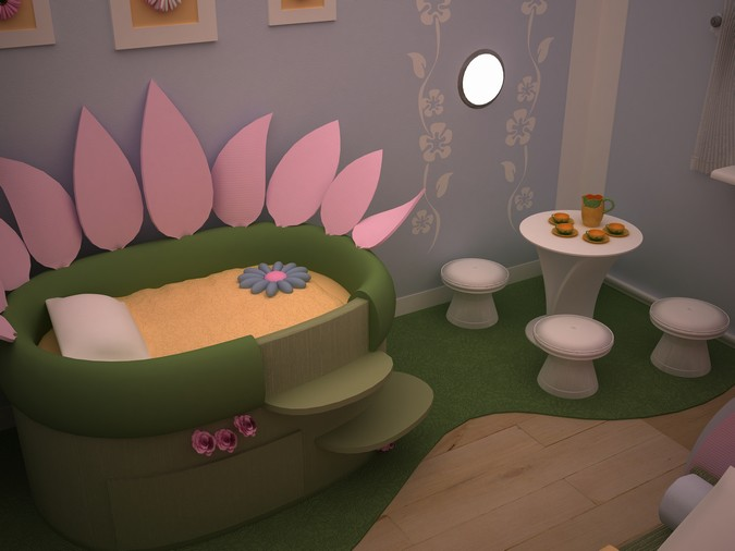 Designers, architects and furniture 3d model furnishings online on Syncronia. Architecture project child, made by Nina