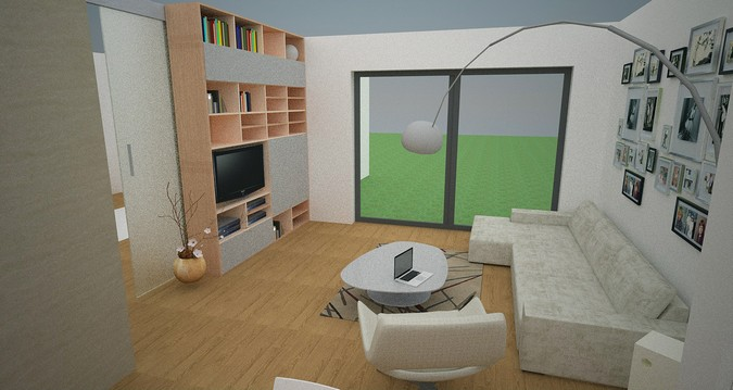 Designers, architects and furniture 3d model furnishings online on Syncronia. Architectur project new building in horice 2, made by Martin Moravec