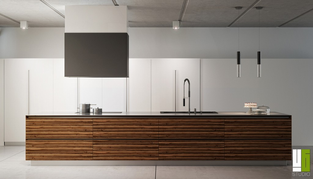 Cucina Moderna 02, made by U6 Studio.