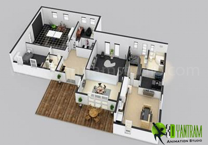 Architectural Floor Plan Rendering Syncronia