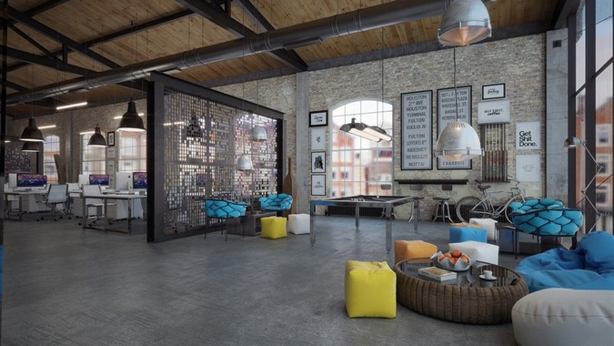 OFFICE DESIGN Loft IT Office Interior Design Made By