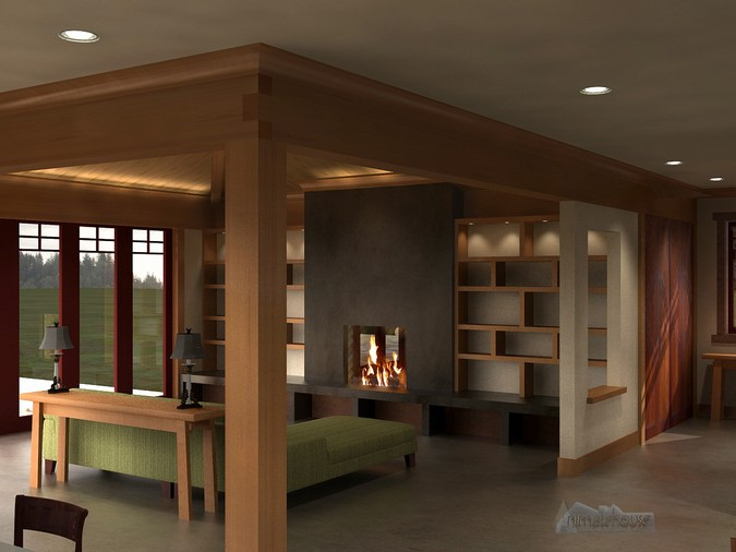 Designers, architects and furniture 3d model furnishings online on Syncronia. Architecture project soquel mtn. interior, made by Alan Hymes