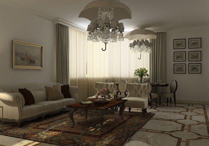 Designers, architects and furniture 3d model furnishings online on Syncronia. Architectur project private apartments, together with architect e. kovanovskij and alterapars studio, made by Darya Girina