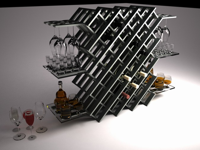Designers, architects and furniture 3d model furnishings online on Syncronia. Architecture project message in the bottle, made by Aljoša Jovanović