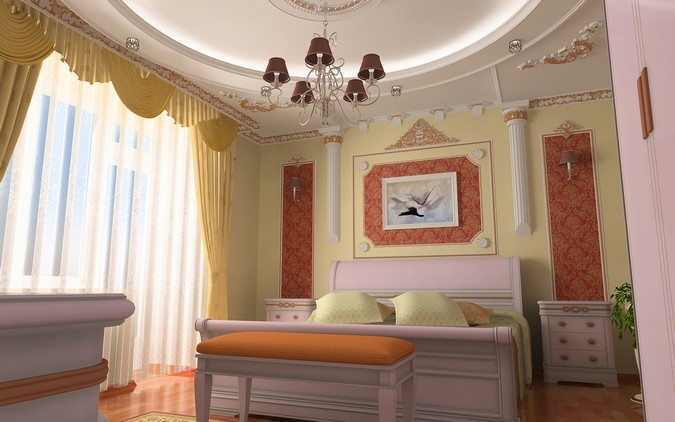Designers, architects and furniture 3d model furnishings online on Syncronia. Architectur project bedroom in chisinau, made by Oleg Caus