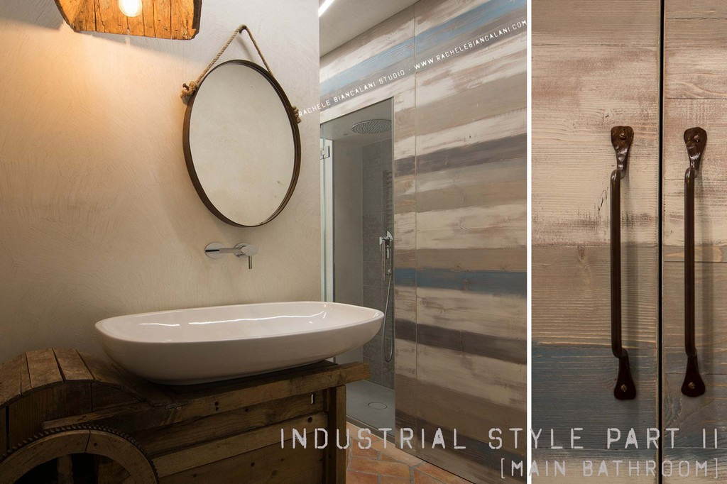 Vintage industrial style realizzato da rachele biancalani - Bagno industrial ...