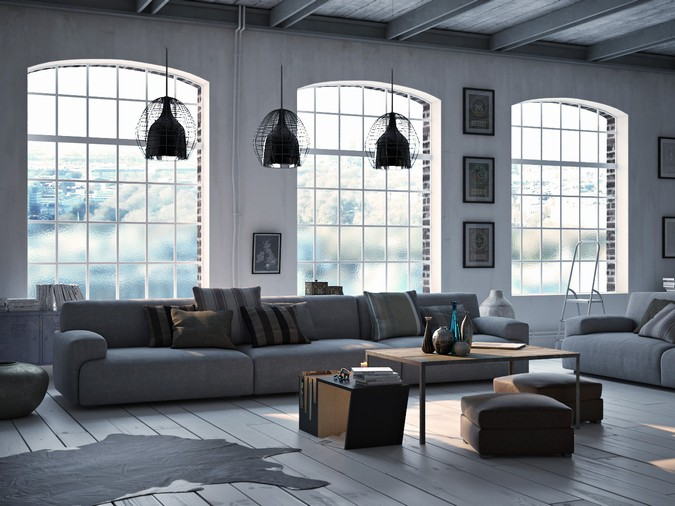 Designers, architects and furniture 3d model furnishings online on Syncronia. Architecture project scandinavian loft, made by Dariusz Szczygielski