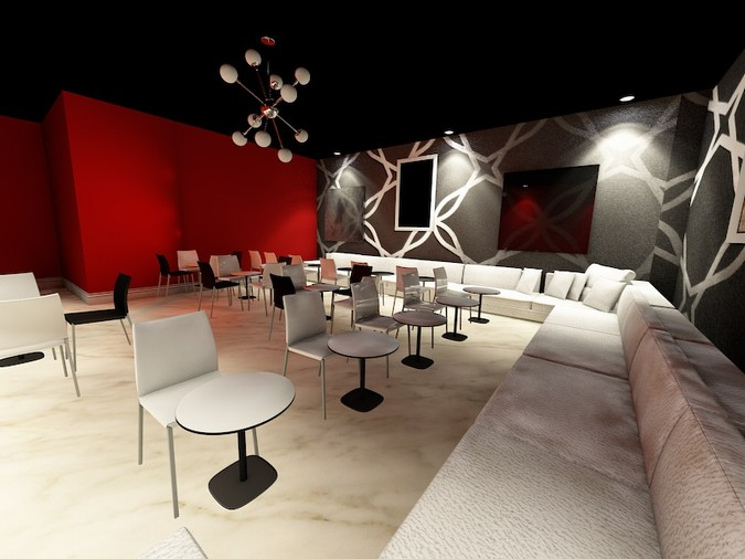 Designers, architects and furniture 3d model furnishings online on Syncronia. Architectur project boston coffee, made by B.Adnane