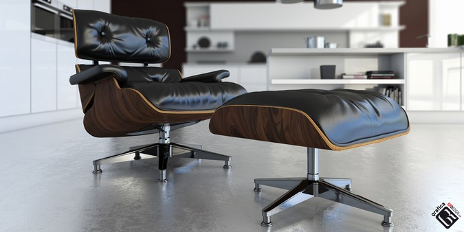 Ray Charles Eames chise loungue