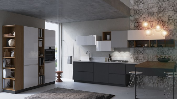 Designers, architects and furniture 3d model furnishings online on Syncronia. Architecture project modern kitchen, made by RD-Visuals