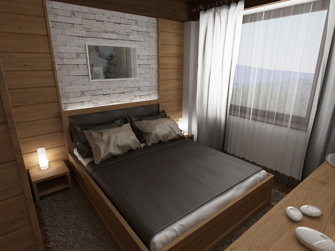 Designers, architects and furniture 3d model furnishings online on Syncronia. Architecture project donovaly chalet, made by Peter Nociar