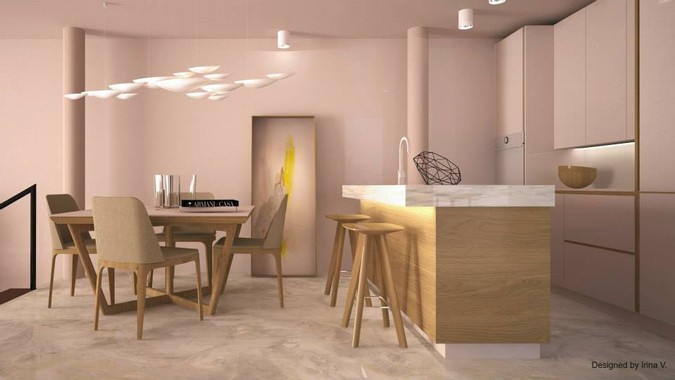 Designers, architects and furniture 3d model furnishings online on Syncronia. Architecture project interior design loft in antwerpen, belgium, made by Irina Vladimirova
