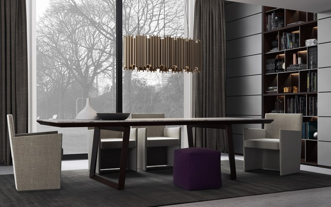 Designers, architects and furniture 3d model furnishings online on Syncronia. Architectur project interior 3d salon poliform, made by Virtual Company