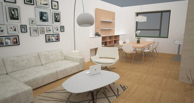 Designers, architects and furniture 3d model furnishings online on Syncronia. Architectur project studies, made by Martin Moravec