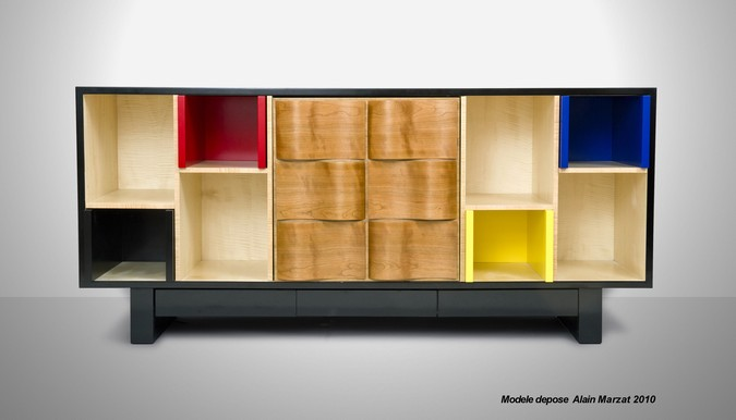 Designers, architects and furniture 3d model furnishings online on Syncronia. Architectur project mondrian sideboard, made by Marzat Alain