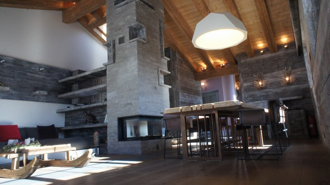 Designers, architects and furniture 3d model furnishings online on Syncronia. Architecture project chalet crans montana, made by Davide D'Agostino