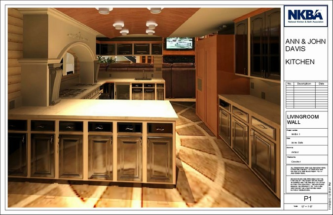 Designers, architects and furniture 3d model furnishings online on Syncronia. Architectur project 2014 nkba kitchen, made by Alan Sagaskey