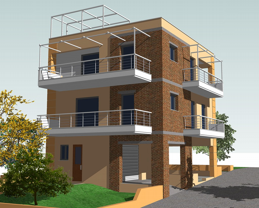 Three Storey Residential Building Made By G Amp N Architects