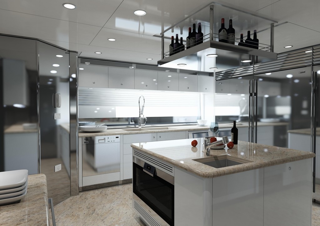 Render cucina yacht syncronia for Arredi sketchup