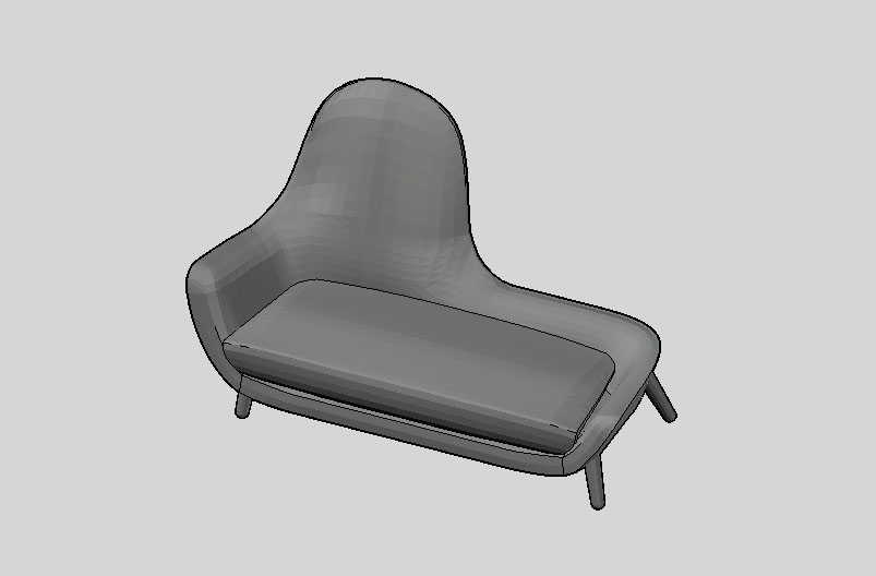 Armchair mad chaise longue poliform day systems for Chaise longue dwg