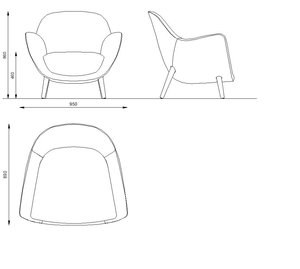 Armchair mad queen poliform day systems download 3d for Poltrone design dwg
