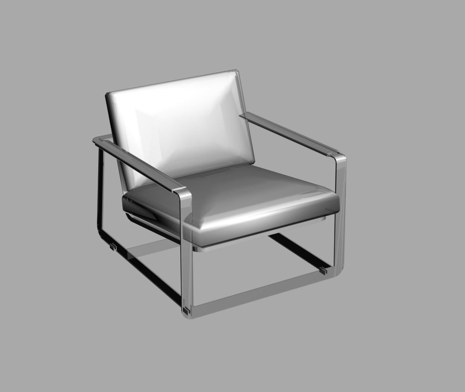 105 poltrone design dwg leather armchair lounge chair by for Arredo stand area