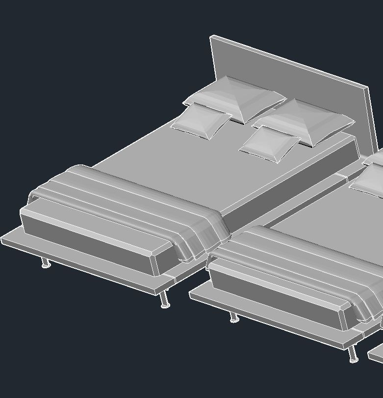Letto angie poliform night systems scarica modelli 3d letti for Letto 3d dwg