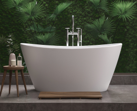 Aquatica Luna Freestanding Solid Surface Bathtub