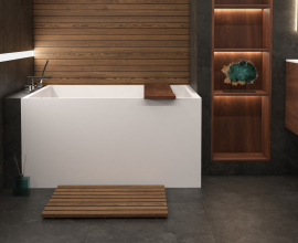 Aquatica Claire Solid Surface Freestanding Bathtub