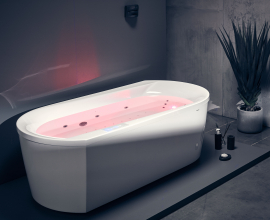 Aquatica Purscape 107 Relax Freestanding Acrylic Bathtub