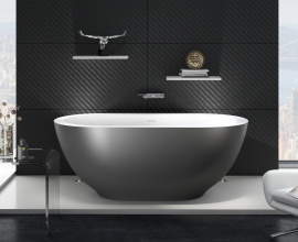 Aquatica Karolina Freestanding Solid Surface Bathtub