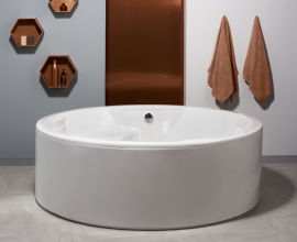 Aquatica Allegra White Freestanding Acrylic Bathtub