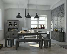 Rustic furniture.