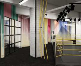 A Commercial Interior GYM View USA