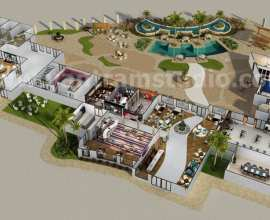 3D Resort Site Plan Layout Concept Design Paris France