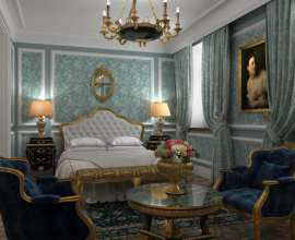 Interior design of Junior Suite of the Bariatinsky Palace (reconstruction of historical interiors adapted for the current use)