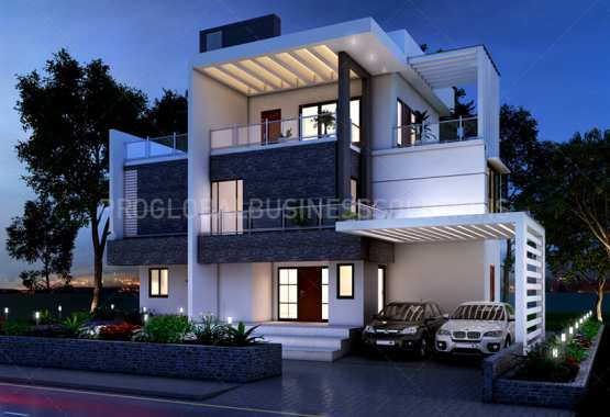 Architectural 3D exterior rendering