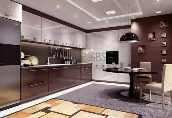 3D kitchen interior rendering
