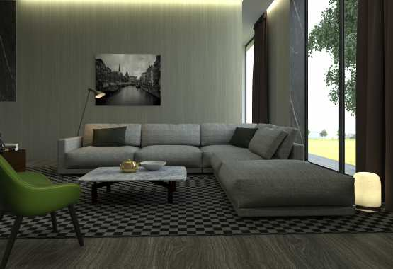 Concept living room 3D Rendering  Houston, Texas