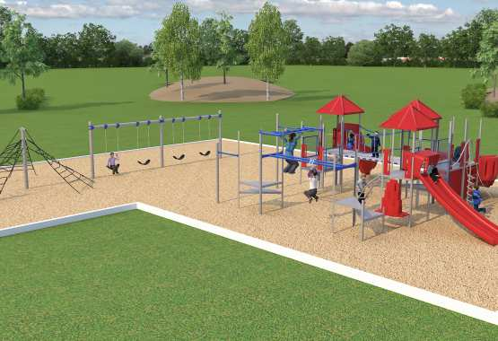 3D Rendering Services of a School Park/Playground Site