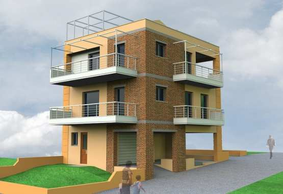 Three storey residential building