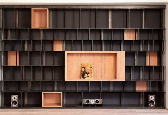 IRON AND WOOD BOOKCASE
