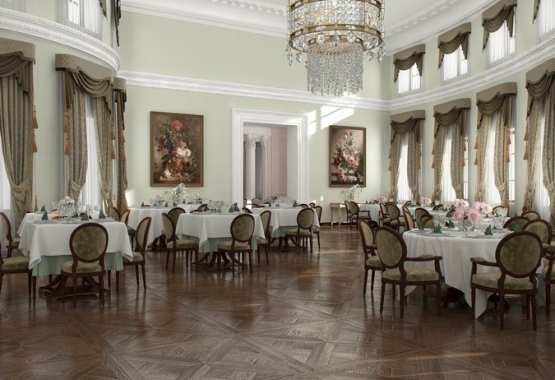 "Banqueting Halls of The Palace Park Ensemble ""Maryino"" of Prince Bariatinsky"