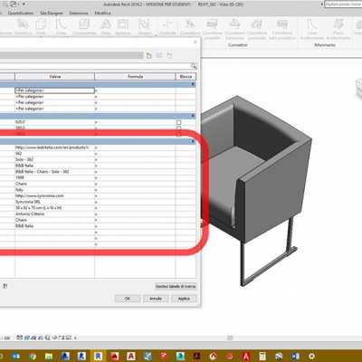 TUTORIAL 2: Revit family – The 3D BIM furniture project in the project.