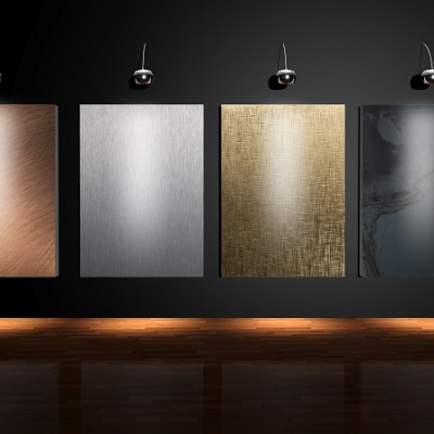 Metal Art on Stage. Planium Excellence in 4 Finishes