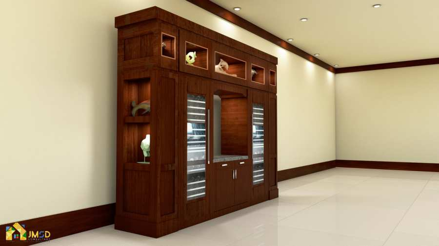 3D Rendering Services Seattle Washington Wine Cabinet Idea